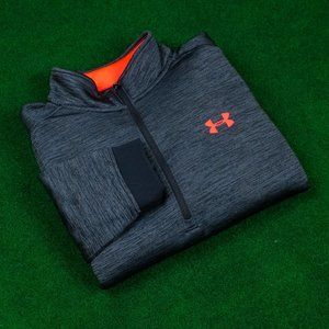 Under Armour Heather Black w/ Red ¼ Zip Sweater